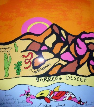 Screenprint De Saint Phalle - Borrego desert