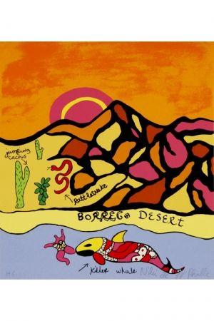 Lithograph De Saint Phalle - Borrego desert