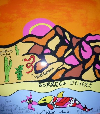 Screenprint De Saint Phalle - Borrego desert