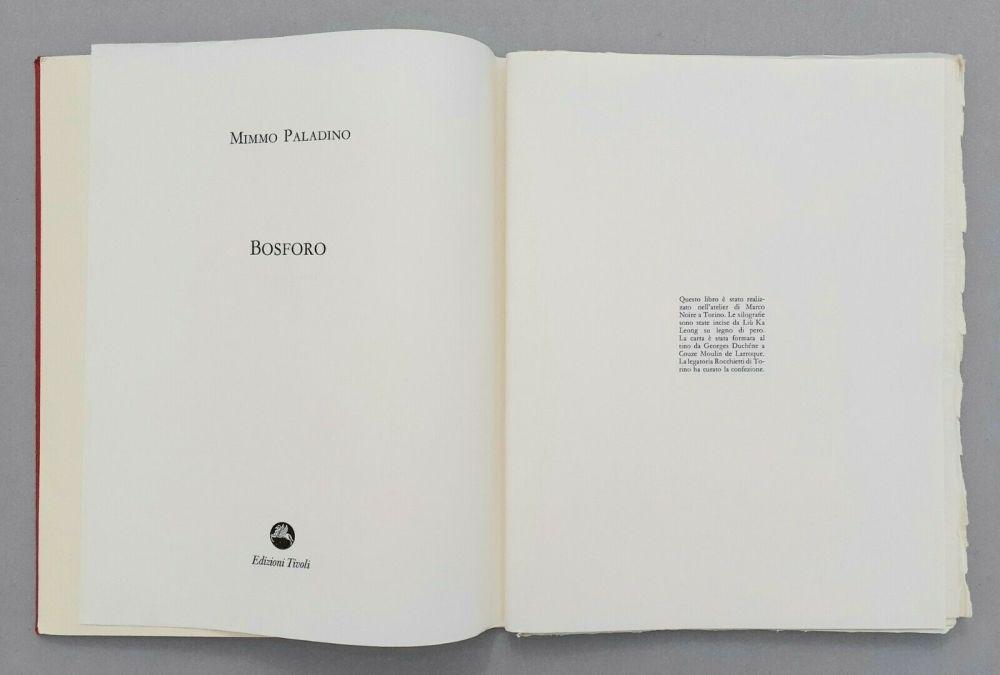 Linocut Paladino - Bosforo, 1982
