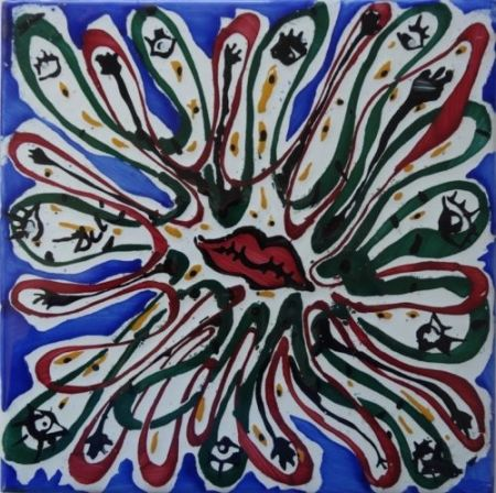 Ceramic Dali - Bouche aux mille yeux