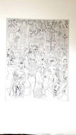 Lithograph Laborde - Boulevard Capucine