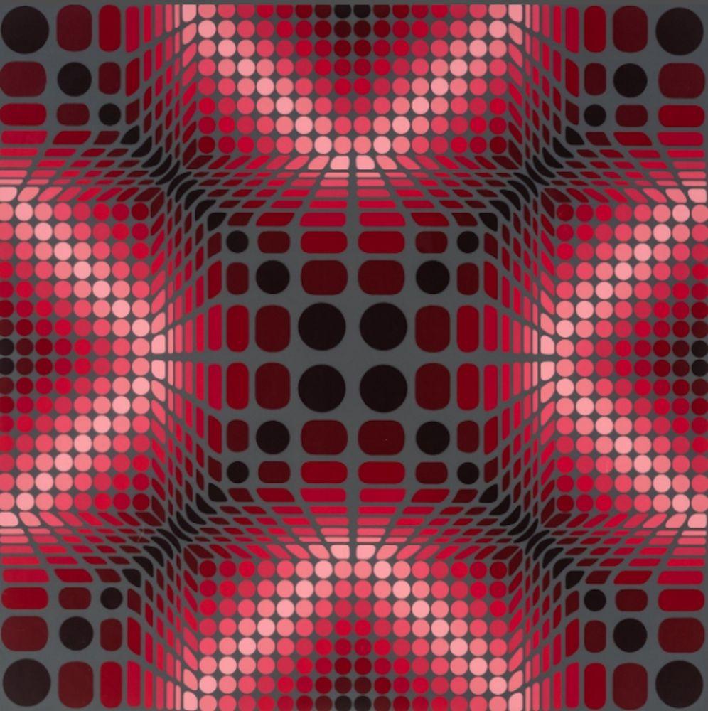 Screenprint Vasarely - Boulouss
