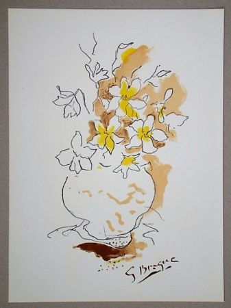 Lithograph Braque (After) - Bouquet