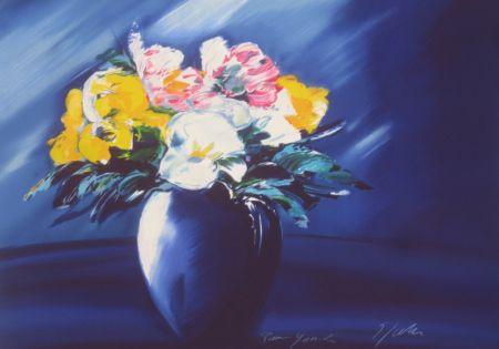 Lithograph Spahn - Bouquet