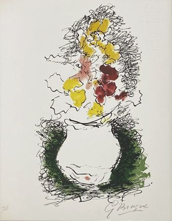 Lithograph Braque - Bouquet