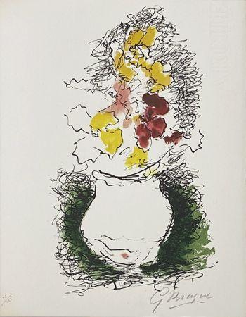 Lithograph Braque - Bouquet