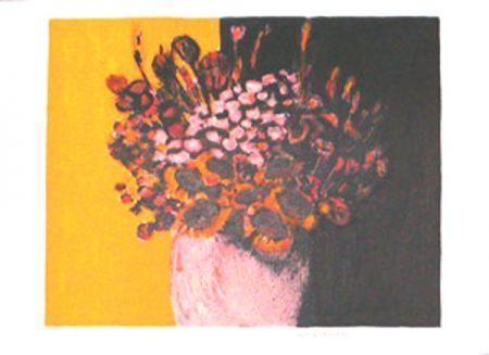 Lithograph Allenbach - Bouquet champetre