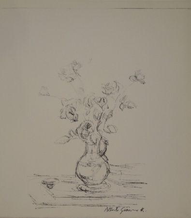 Lithograph Giacometti -  Bouquet dans une cruche I