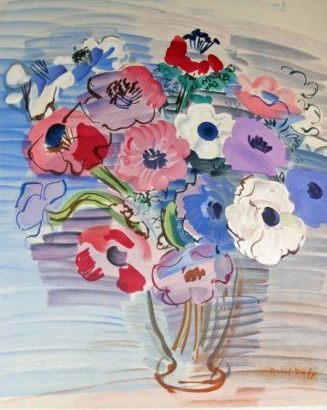 Lithograph Dufy - Bouquet de fleurs