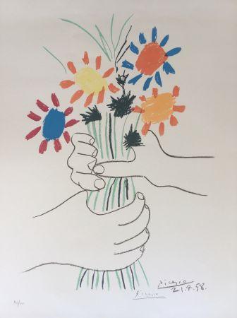 Lithograph Picasso - Bouquet de Paix