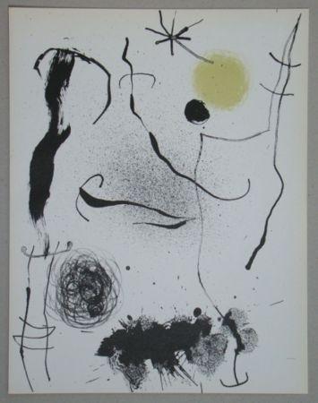 Lithograph Miró - Bouquet de rêves pour Leila