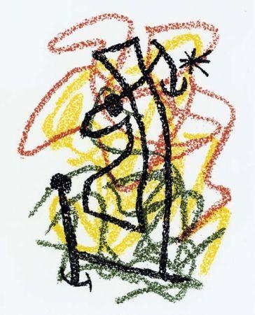 Lithograph Miró - Bouquet de Rêves pour Neila