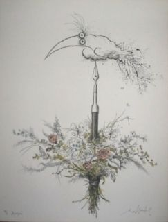Lithograph Searle - Bouquet garni
