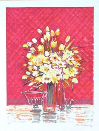 Lithograph Henry - Bouquet jaune