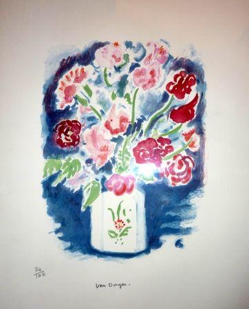 Lithograph Van Dongen - Bouquet pois de senteur