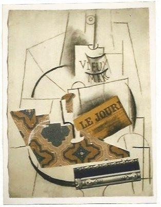 Lithograph Picasso - Bouteille de Vieux Marc