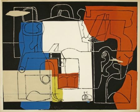 Lithograph Le Corbusier - Bouteilles (hand-signed & numbered)
