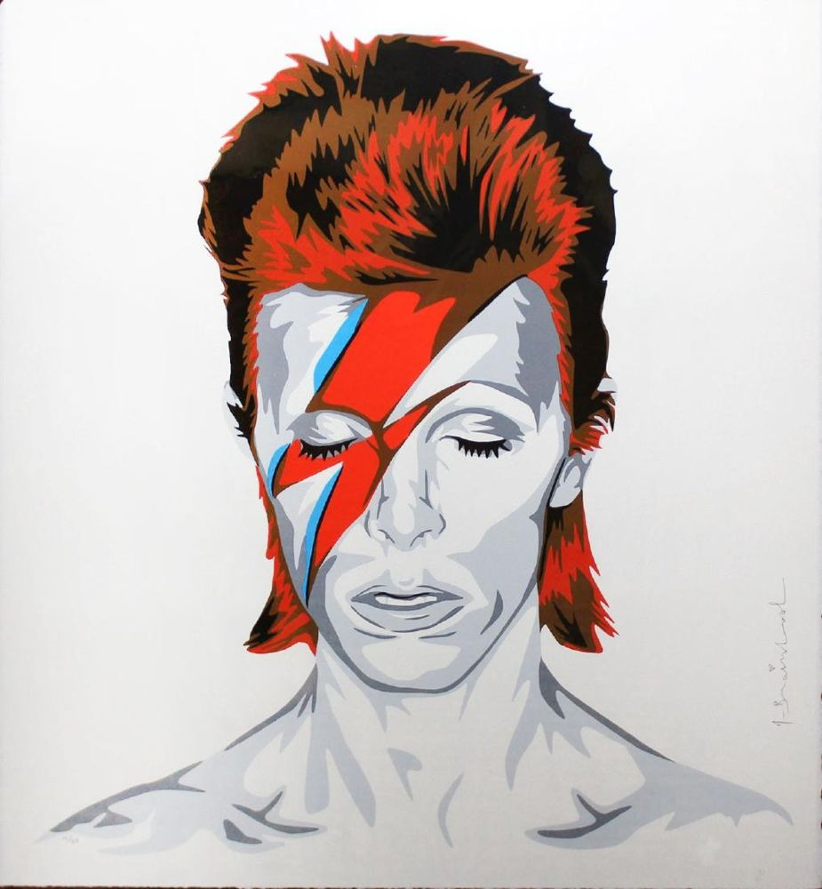 Screenprint Mr. Brainwash - Bowie