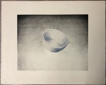 Lithograph Ruscha - Bowl, from domestic tranquility series