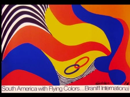 Screenprint Calder - BRANIFF SOUTH AMERICA