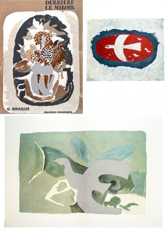 Illustrated Book Braque - BRAQUE, derniers messages. Derrière le Miroir n° 166 . Juin 1967.