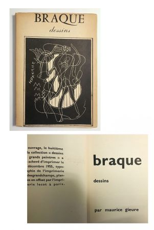 Illustrated Book Braque - Braque dessins (1955)