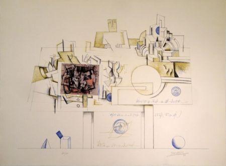 Lithograph Steinberg - Braque Postcard