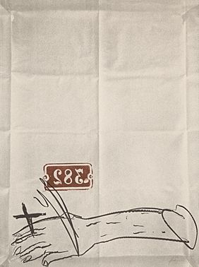 Lithograph Tàpies - Bras et chiffres