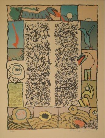 Lithograph Alechinsky - Brassée sismographique