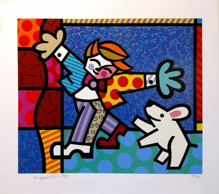 Screenprint Britto - BRENDAN AND THE WISHING DOG