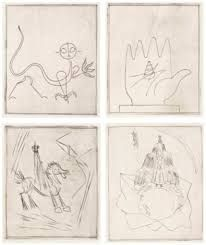 Engraving Giacometti - BRETON (André). L'Air de l'eau