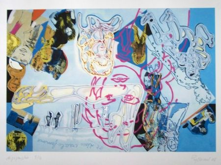 Lithograph Guyomard - Brigitte bardot