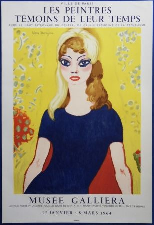 Lithograph Van Dongen - Brigitte Bardot