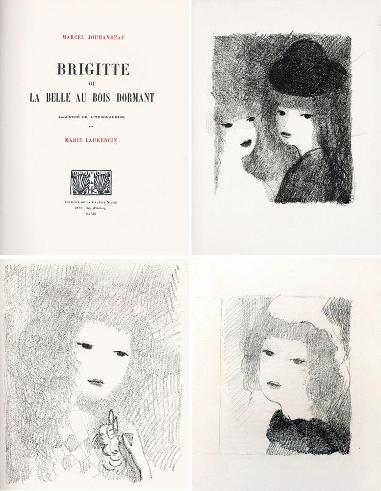 Illustrated Book Laurencin - BRIGITTE OU LA BELLE AU BOIS DORMANT (M. Jouhandeau. 1925)