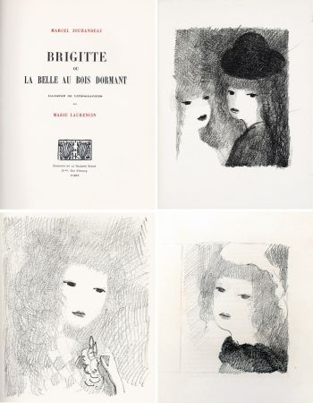 Illustrated Book Laurencin - BRIGITTE OU LA BELLE AU BOIS DORMANT (M. Jouhandeau. 1925)