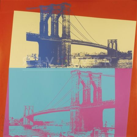 Screenprint Warhol - Brooklyn Bridge
