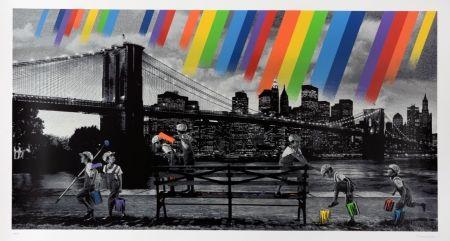 Screenprint Roamcouch - Brooklyn Bridge - Mono