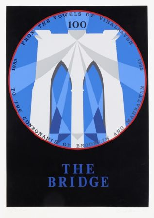 Screenprint Indiana - Brooklyn Bridge from the New York, New York Portfolio