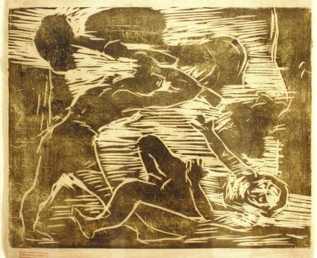 Woodcut Corinth - Brudermord (Cain And Abel)