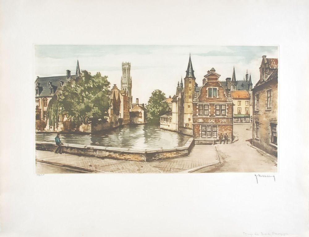 Engraving Hebbelinck - Bruges : Les Ducs de Bourgogne