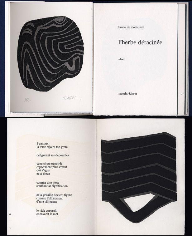 Illustrated Book Ubac - Bruno de MONTALIVET. L'HERBE DÉRACINÉE. Gravures de Raoul Ubac