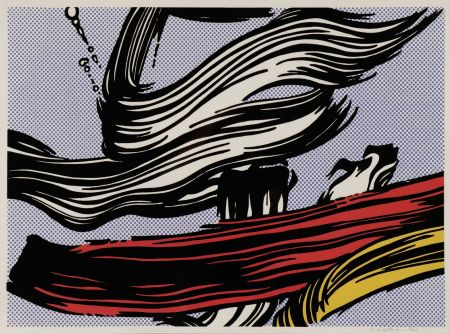 Screenprint Lichtenstein - Brushstroke