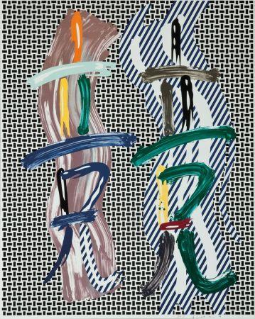 Lithograph Lichtenstein - Brushstroke Contest