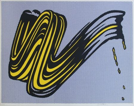 Screenprint Lichtenstein - Brushstroke Corlett II 5