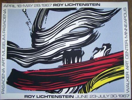 Screenprint Lichtenstein - Brushstroke  pasadena museum 1967