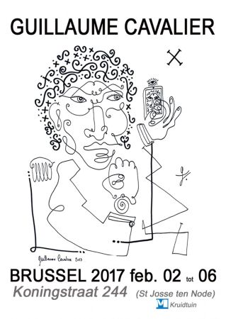 Poster Cavalier - '' Bruxelles 2017 ''