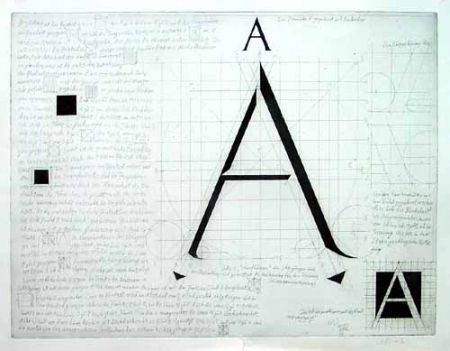 Etching Bunz - Buchstabe A / The Letter A