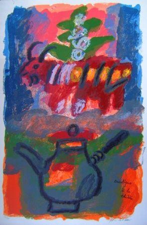 Lithograph Tobiasse - Bucolique á la theiere