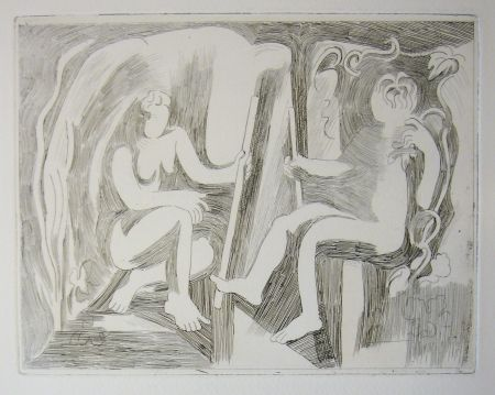 Drypoint Beaudin - Bucoliques 1